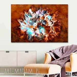 Obraz magnolie na brązowym tle 90 x 60, nowoczesny ścianę