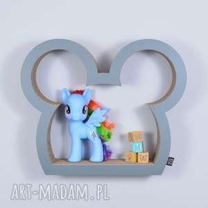 Półka na książki zabawki MYSZKA ecoono | szary, półka, chłopiec, dziewczynka