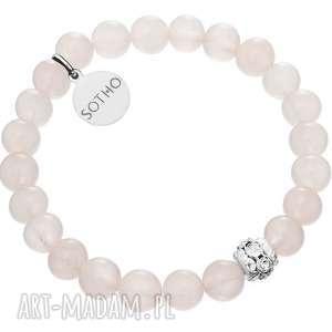 biała dziecięca bransoletka nefryt biały kryształy