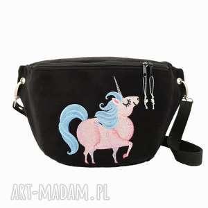nerka XXL chubby unicorn , nerka, torebka, unicorn, czarna, zamszowa, jednorożec