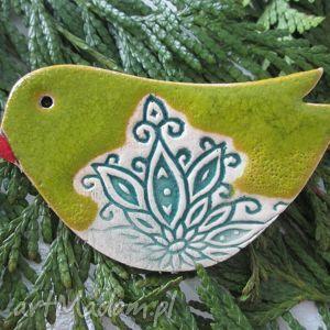 magnesy ptaszek folkowy, ceramiczny, magnes, ptak, folk dom, unikalny prezent