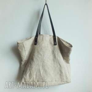 Torba konopna Slow, ekologiczna, torba-na-ramie, torba-na-plaże, torba-na-lato
