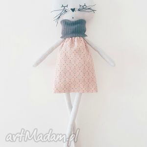 handmade maskotki kotek tilda maskotka