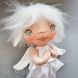 aniołek gołąbek - dekoracja ścienna figurka tekstylna ręcznie szyta