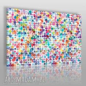 obraz na płótnie - kolory kropki plamki 120x80 cm 83701, plamki, kropki, minimalizm