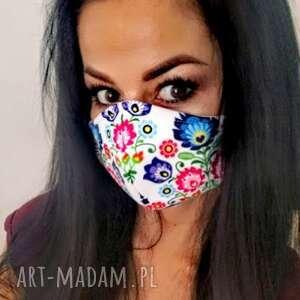 maska,maseczka streetnewstyle z filtrem, folk, maska, ochronna, damska