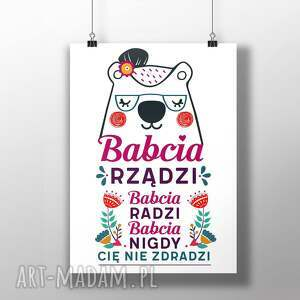 Plakat Babcia Rządzi - plakat, dzienbabci, prezent, wnętrza, babcia, wystrój