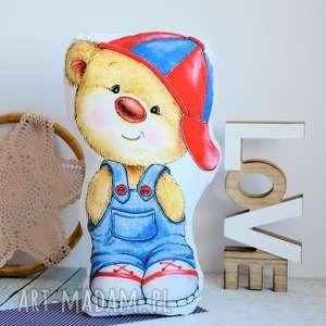 poduszka - zabawka - miś łobuziak - przytulanka, bawełniana chłopczyk