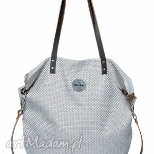 torba worek plecionka simple, duża, szara, praca, szkoła