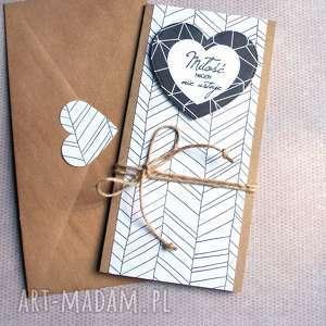Kartka ślubna: miłość black & white kartki kaktusia