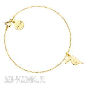Złota bransoletka z tukanem - ,bransoletka,tukan,modowa,trendy,żółte,złoto,