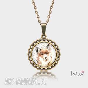 ręcznie zrobione naszyjniki medalion okrągły mały pes