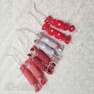 ozdoby świąteczne ozdoba na choinkę cukierki bawełniane, dekoracja