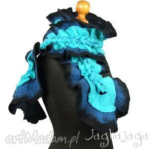 Dolores szaliki jaghajaga szal, ciepły, wełna, naturalna