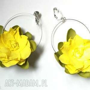 Ruda Klara Klipsy lekkie boho kwiaty orient-box veniz