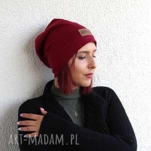 Prezent Bordowa czapka beanie , czapka, bordowa, bordowa-czapka, jesienna-czapka