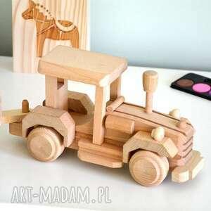 traktor z przyczepą, traktor, auto, samochód, przyczepa, drewniana, pojazd
