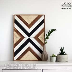 drewniany panel dekoracyjny - mozaika, panel, drewniane, dekoracja, ścienny, mozaika