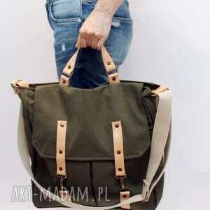 Zielona torba, karabinki, bawena, flisanna