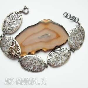 bransoletka srebrna - witraż srebrny mały, bransoletka, srebrna, biżuteria