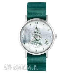 zegarki zegarek - zimowy, choinka morski, nylonowy, zegarek, nylonowy pasek