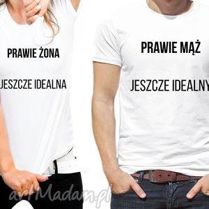 handmade koszulki dla par prawie mąż/ żona