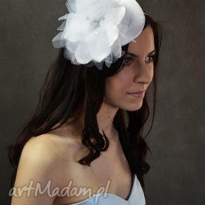 svarovski elements, swarovski, toczek, biały ozdoby do włosów