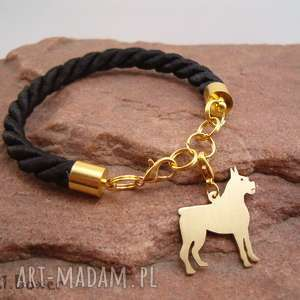 frrodesign bransoletka bokser pies nr 21, bransoletka, pies, prezent, rękodzieło