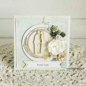 hand-made scrapbooking kartki kartka ślubna w pudełku, 216