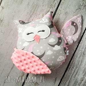 Prezent Śpiąca sowa maskotka przytulanka prezent dla dziecka, sowa, księżyc,