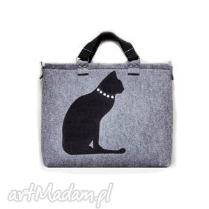 Torba np. na laptopa Kolekcja DELUX part 4, filc, laptop, torba, kot
