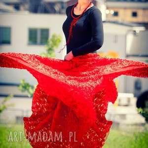 oryginalny prezent, esterka czerwona spódnica -s5, czerwona, koronka, 3d