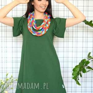 ręcznie robione sukienki sukienka romantic s/m/l/xl malachitowa