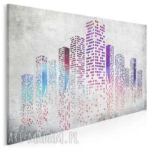 obraz na płótnie - miasto wieżowce 120x80 cm 19501, miasto, budynki