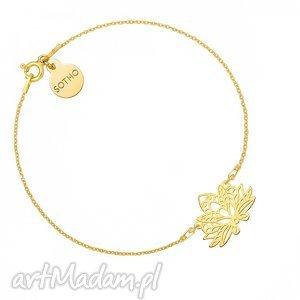 złota bransoletka z ażurowym lotosem - złote bransoletki