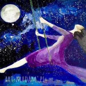 adriana laube art akryl na płótnie bujam w gwiazdach artystki plastyka adriany