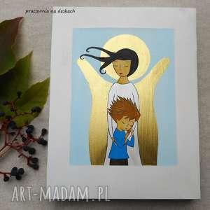 handmade dla dziecka anioł stróż chłopca