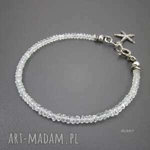 delikatna z akwamarynu, srebro, oksydowane, akwamaryn biżuteria, wyjątkowy prezent