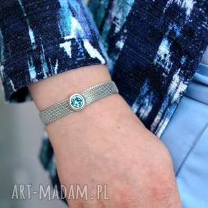 bransoletka magnetoos metaloo cristal, bransoletka, stal, magnetyczne, kryształek