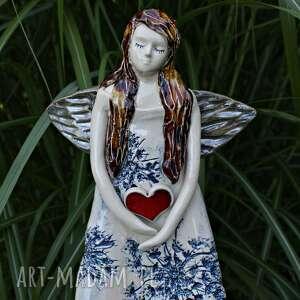 dla dziecka anioł w niebieskiej sukni, noworodka, prezent na chrzest