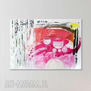 obraz ręcznie malowany na płótnie - abstrakcja, obraz, nowoczesny, abstrakcja