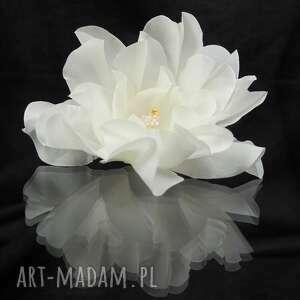święta, kokówka jedwabna 9, swarovski, kryształ, jedwab, ślub, kokówki, kwiat