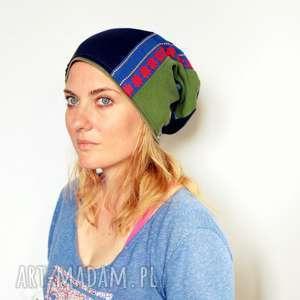 czapka bociany z maroka przyniosą proroka - czapka, kolorowe, mama, folk, ludowe, etno