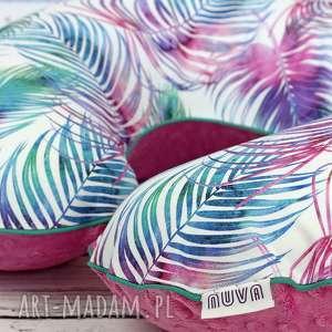 handmade dla dziecka duża poduszka do karmienia -kolorowe pióra