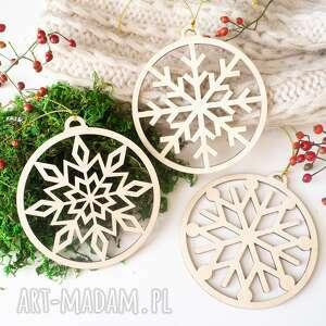 dekoracje zestaw bombek - płatki śniegu, bombka, prezent świąteczny, bombki