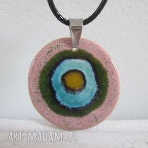 2 w 1 naszyjnik ceramiczny energetyczny, z ceramiki, prezent, kolorowy, wisiorek, wisior