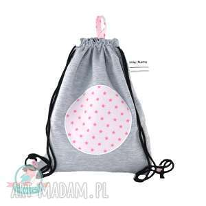 Worek-plecak wodoodporny z drrsu gwiazdy róż, worek, plecak, gwiazdy, szkoła
