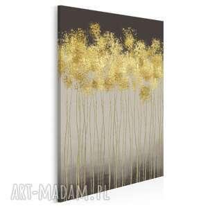 obraz na płótnie - abstrakcja złoty w pionie 50x70 cm 69503