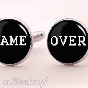 game over - spinki do mankietów, męskie, napisem