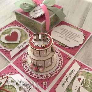 Pudełko eksplodujące - kartka na osiemnastkę, kartka, osiemnastka, urodziny